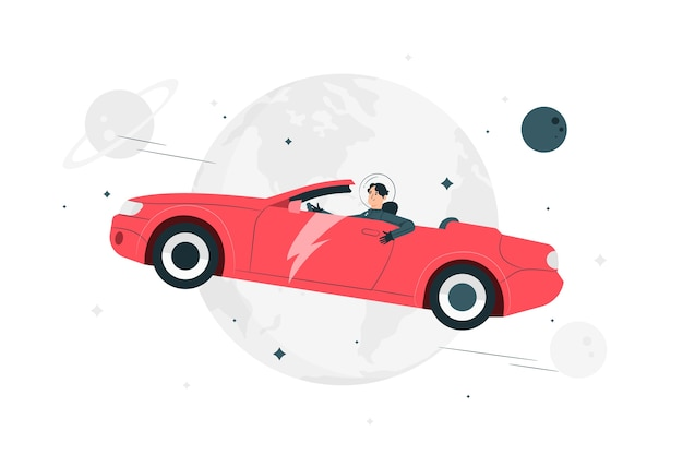 Starman concept illustration Free Vector