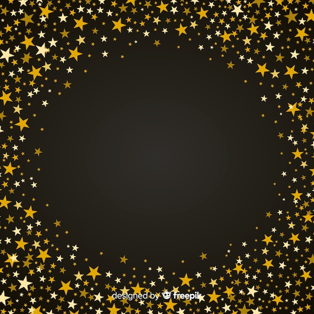 Starry christmas background Free Vector