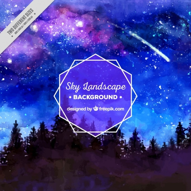 starry night in the forest vector free download