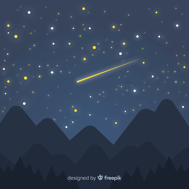 Starry night sky background Vector | Free Download