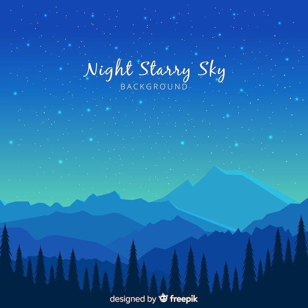 Starry sky background Free Vector