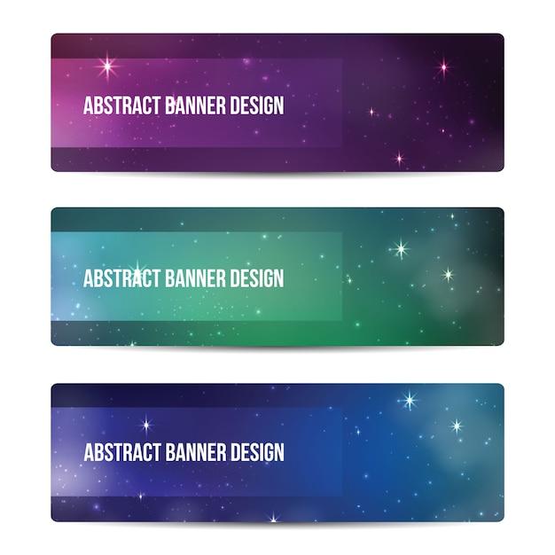 星空のバナーデザイン Premiumベクター