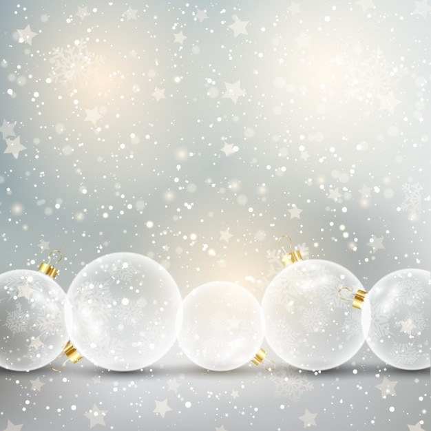 Starry white christmas background Vector | Free Download