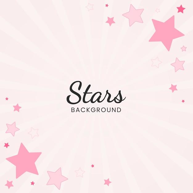 Stars background illustration Free Vector