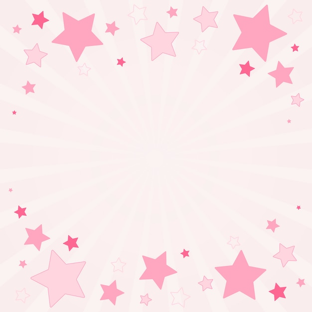 Stars background illustration Free Vector