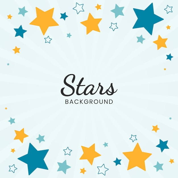 Stars background Free Vector