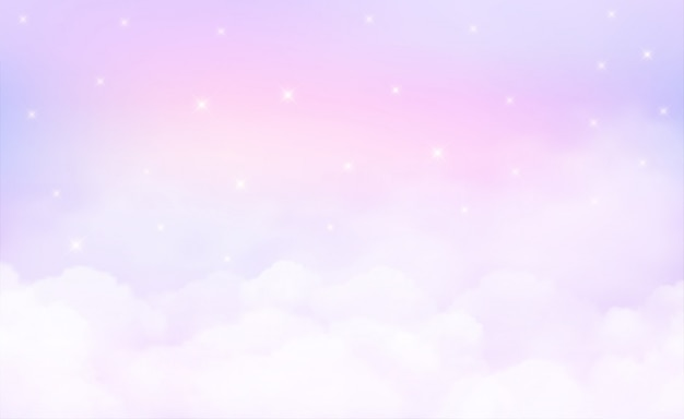 Stars in could sky background and pastel color. Premium Vector