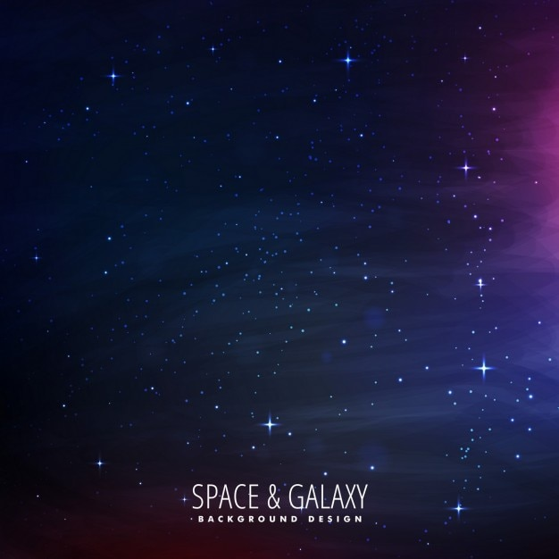 Stars filled space background Free Vector