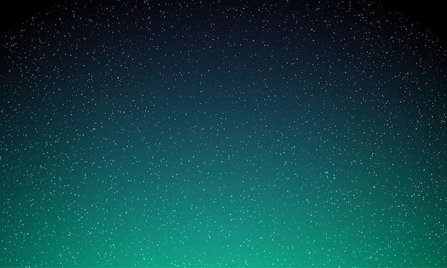 Звезды в ночном небе, звездный свет, галактика космический фон. аврора северное сияние свечение, неон аврора волшебный блеск фон Premium векторы