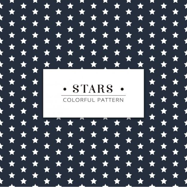 Stars Pattern Design Free Vector