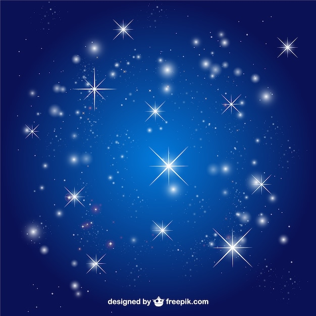 Stars sky background Free Vector