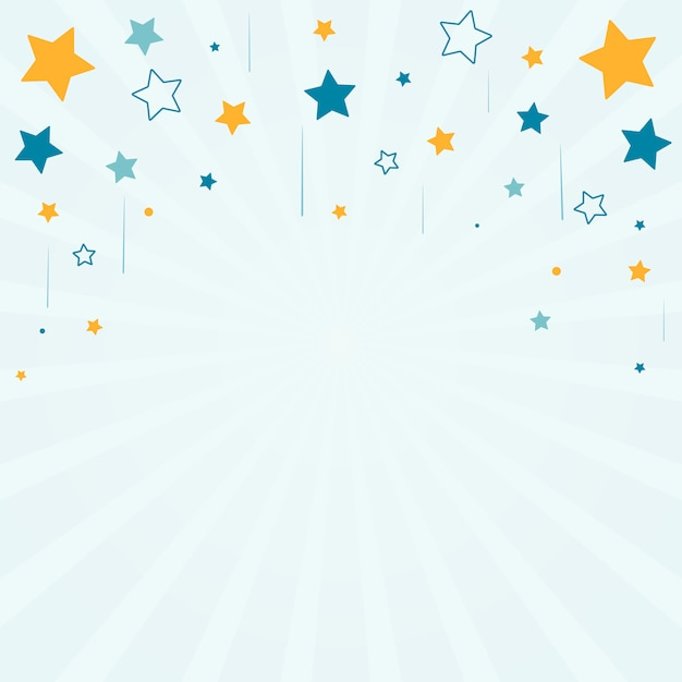 Stars with sunburst background Free Vector