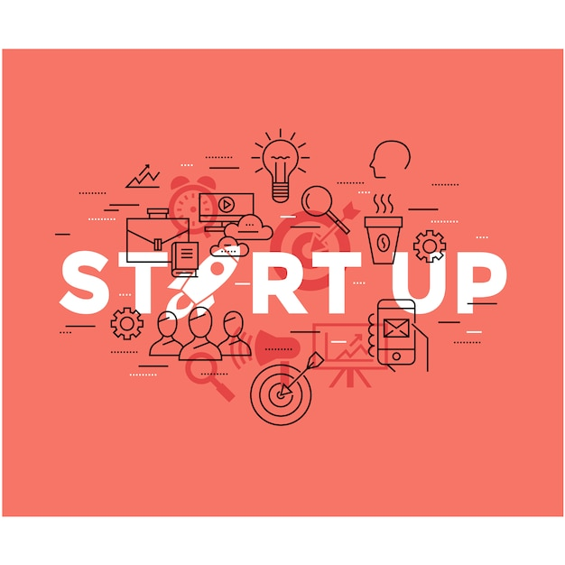 Start up business background Free Vector