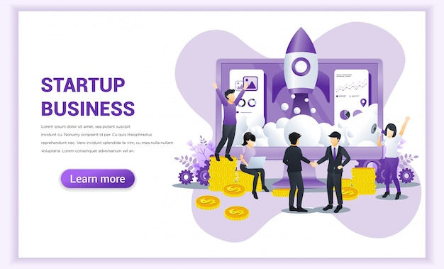 Start up business concept with businessmen came to an agreement and completed the deal with shaking hands. Premium Vector