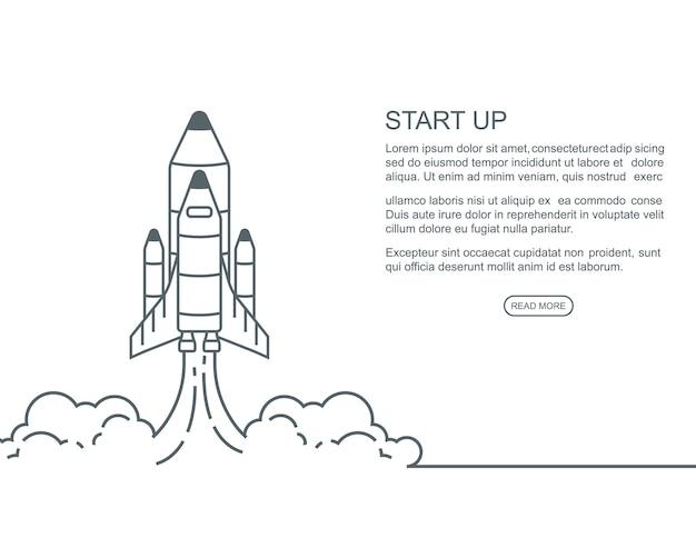 Start up concept design Premium Vector