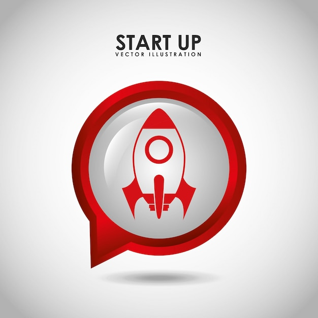 Start up concept Free Vector