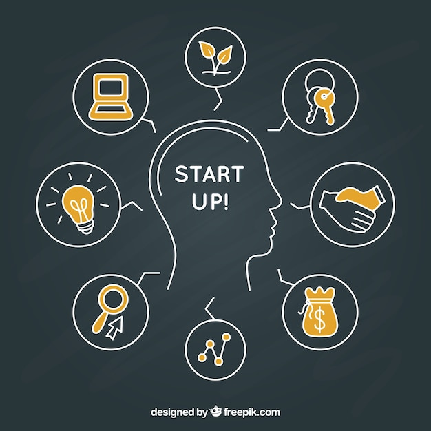 Start up concepts Free Vector