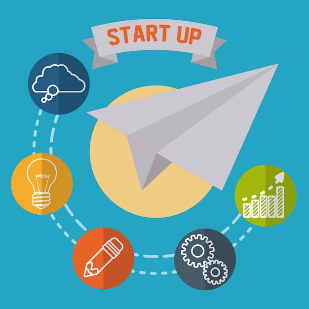Start up design Premium Vector