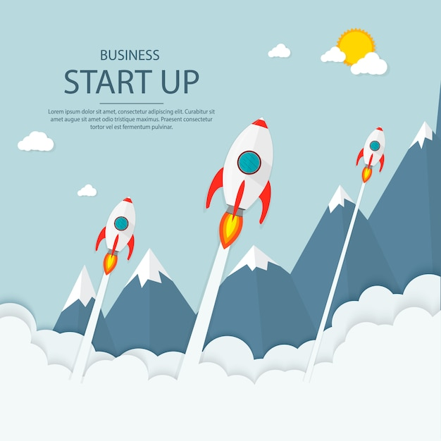Start up. income and success. business infographics. Premium Vector
