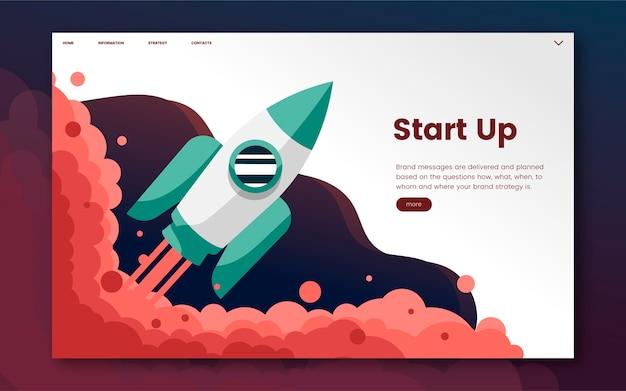 Start up informational website graphic Free Vector