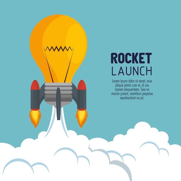 Пусковая ракета-носитель запуска Premium векторы
