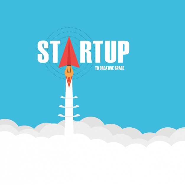 Startup background design Free Vector