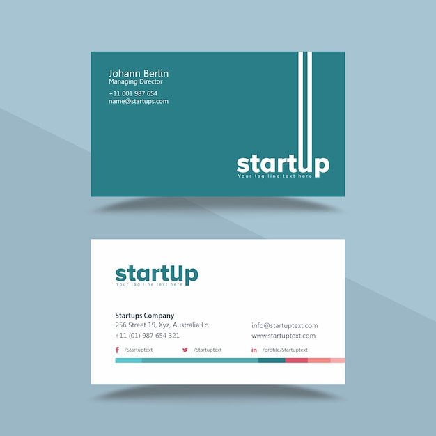 Startup company professional business card template vector premium startup company professional business card template premium vector colourmoves