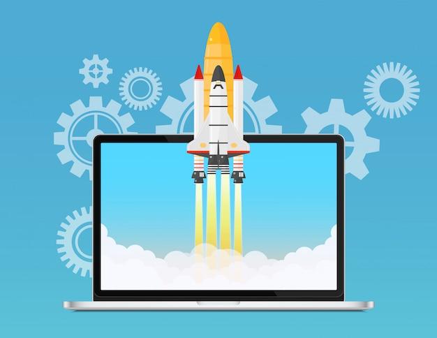 Startup and development concept Premium Vector