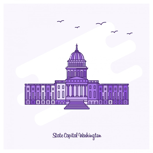 State capital washington landmark Premium Vector