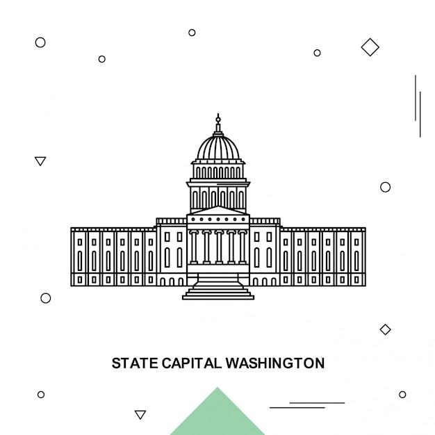 State capital washington Premium Vector