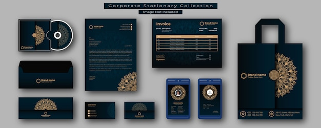 Stationary or branding identity design template Premium Vector