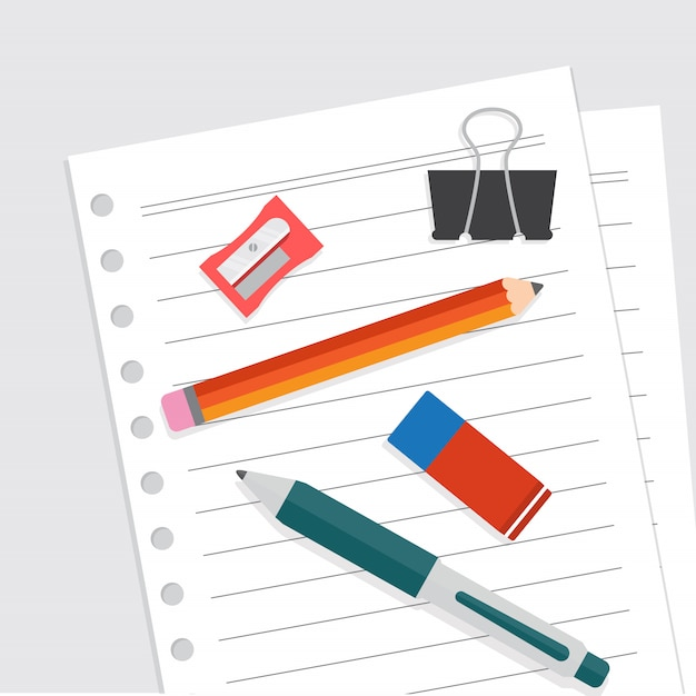 Stationary flat design vector illustration Premium Vector