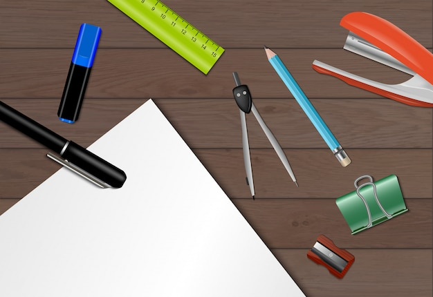 Stationery paper background Free Vector