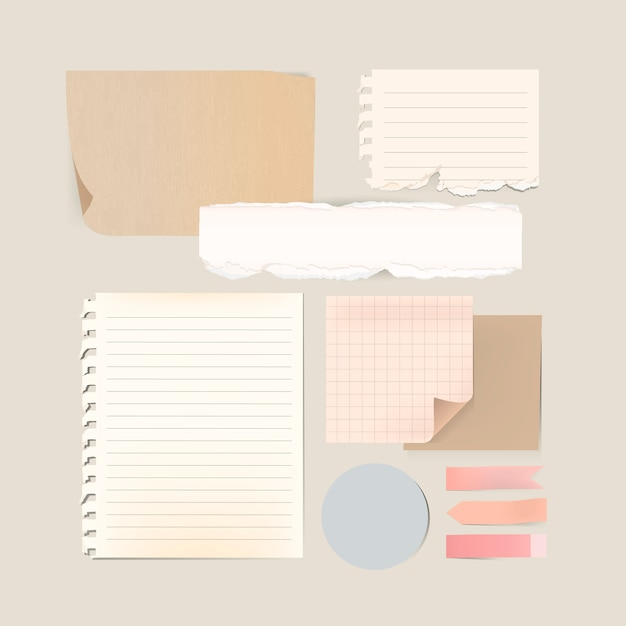 Stationery template set Free Vector