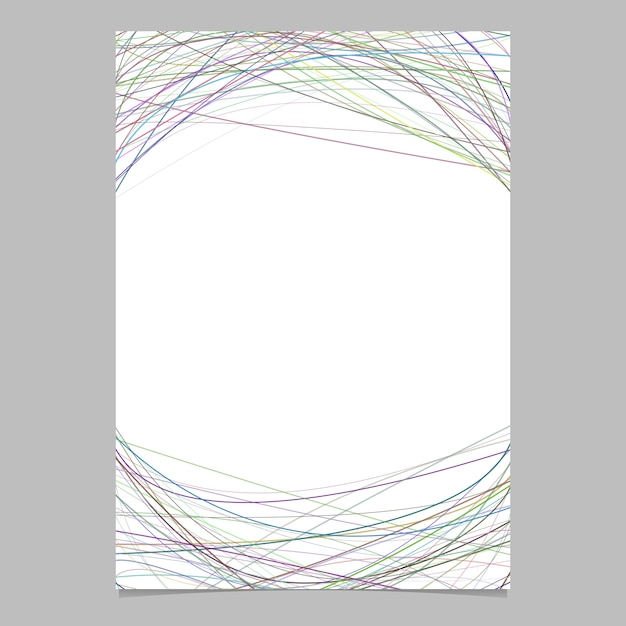 stationery template with chaotic curved stripes vector page design
