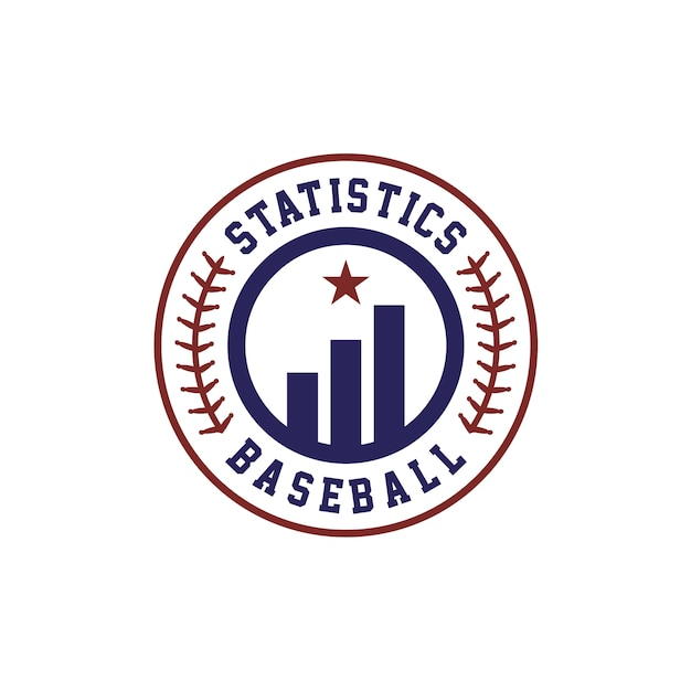 Statistics baseball team manager logo design Premium Vector