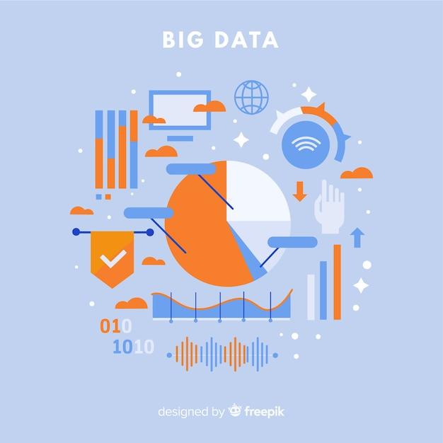 Statistics big data background Free Vector