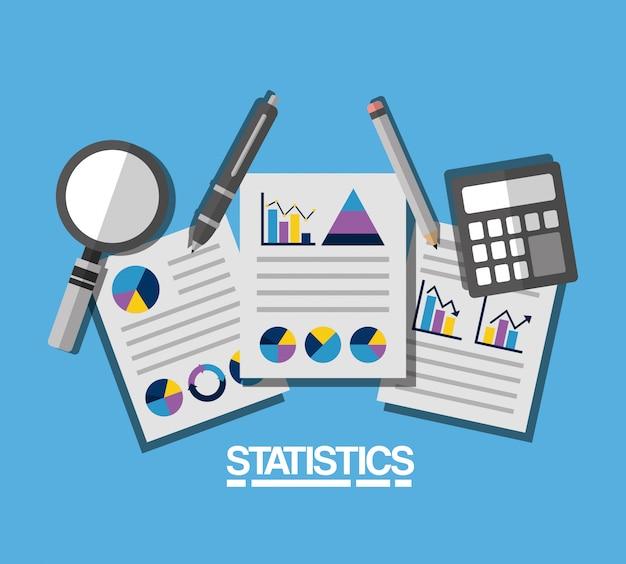 Statistics data business illustration Free Vector