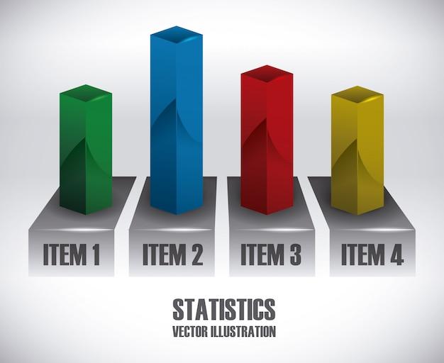 Statistics design Premium Vector