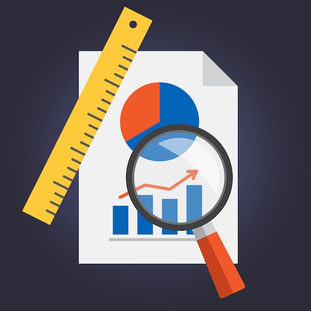 Statistics document design Free Vector
