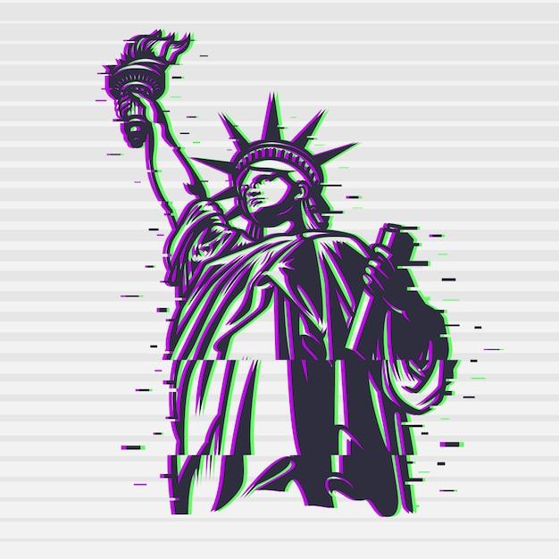 Statua della libertà Vettore gratuito
