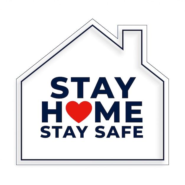 家のシンボルで家にいて安全な背景 無料ベクター