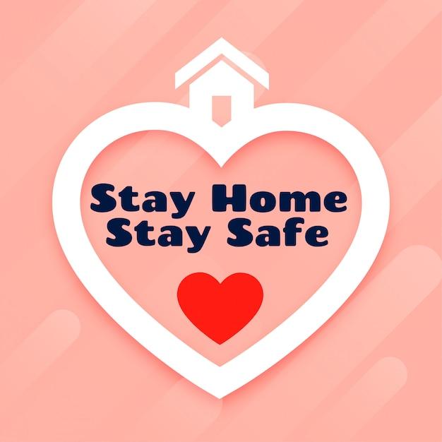 家にいて安全なポスターデザインを維持する 無料ベクター