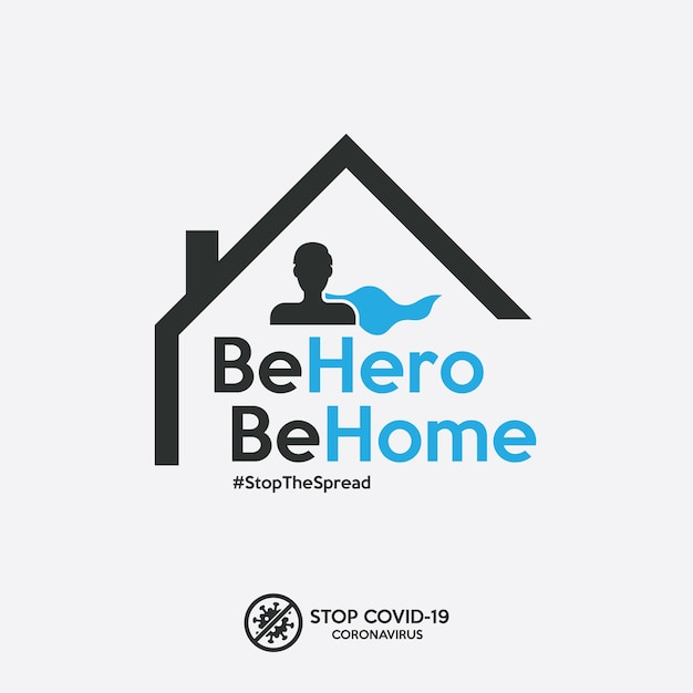 Stay home banner to stop the spread of covid-19 coronavirus. Premium Vector