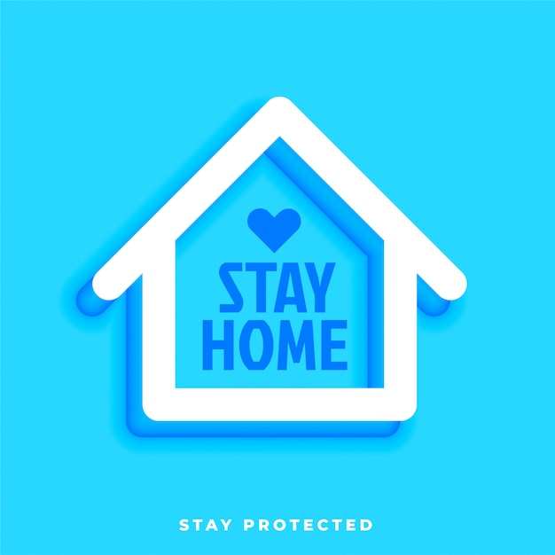 家のシンボルで家にいる保護されたデザイン 無料ベクター
