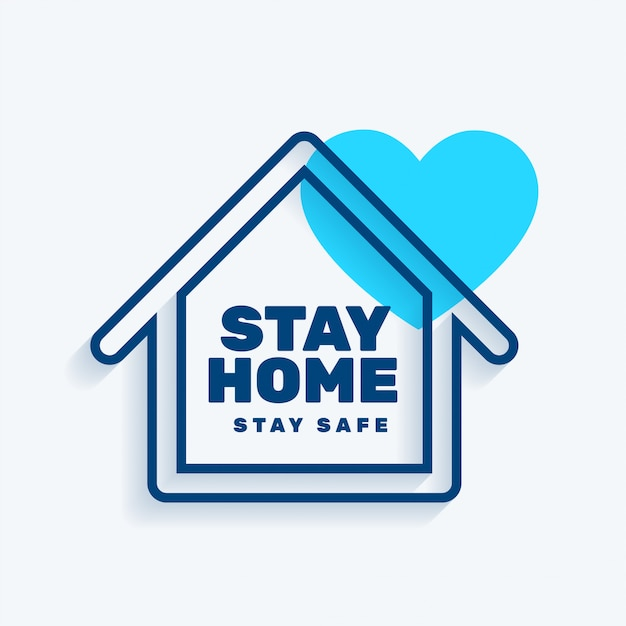Free Vector   Stay at home stay safe concept background