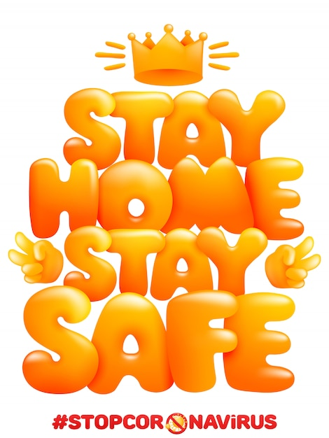 Premium Vector | Stay home stay safe. home quarantine self isolation poster  in cartoon style