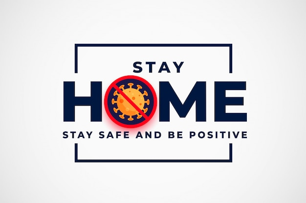 Stay home and stop coronavirus background design Free Vector