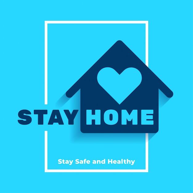 安全で健康的なポスターデザインを家で過ごす 無料ベクター