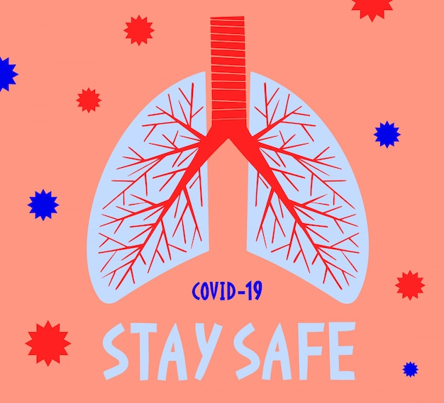 Stay Safe. Pandemic Medical Concept Banner With Human